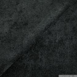 Velours polyester côtelé noir