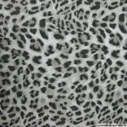 Tissu microfibre imprimé sauvage gris