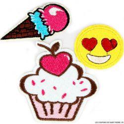 Écusson cupcake à coudre ou à thermocoller