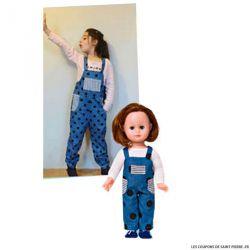 Patron Modes & Travaux -  Salopette pour fillette et poupée