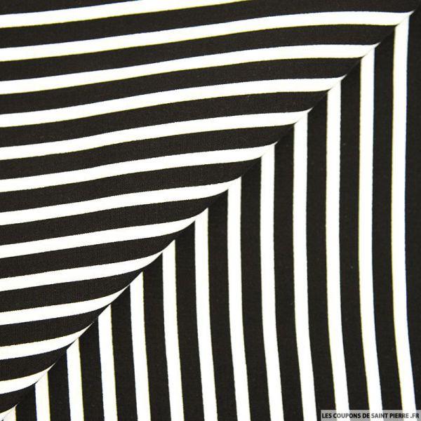 Viscose rayures larges noir et blanc