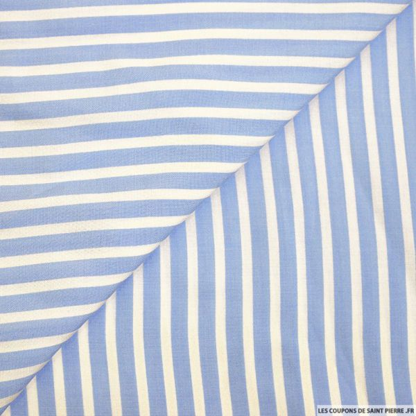 Viscose rayures larges bleu clair