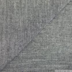 Chambray de coton noir