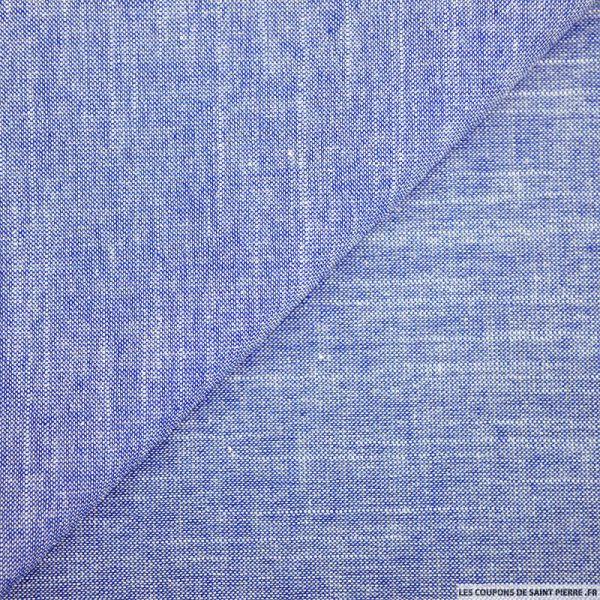 Chambray de coton bleu jeans