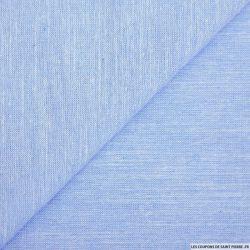 Chambray de coton bleu clair