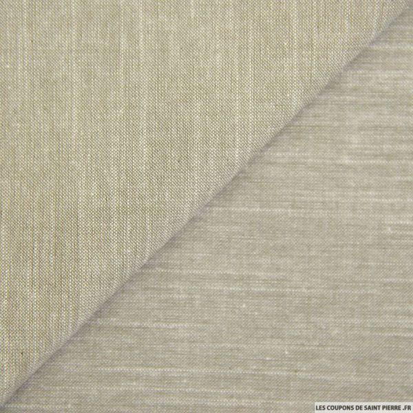 Chambray de coton sable