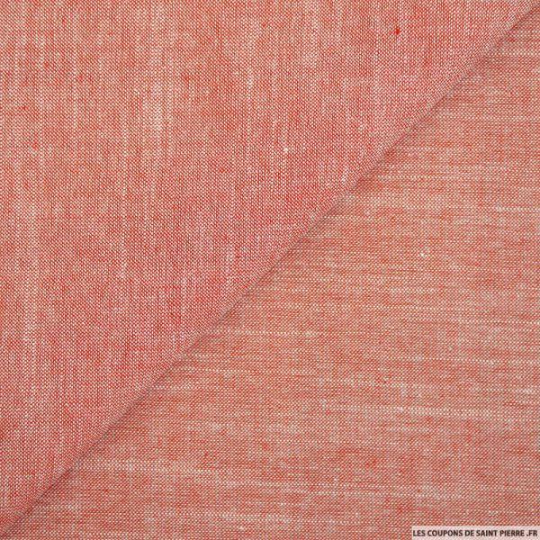Chambray de coton rouge