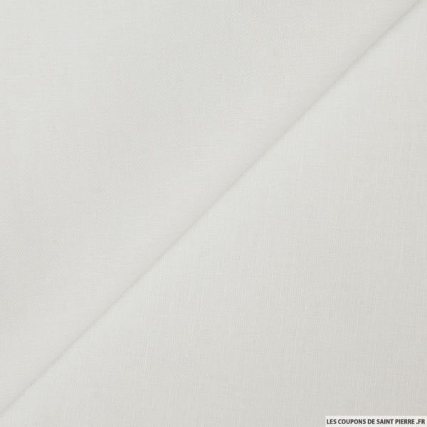 Tissu 100% Lin blanc