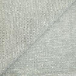 Coton lin chiné gris perle