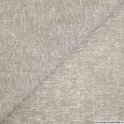 Coton lin chiné beige