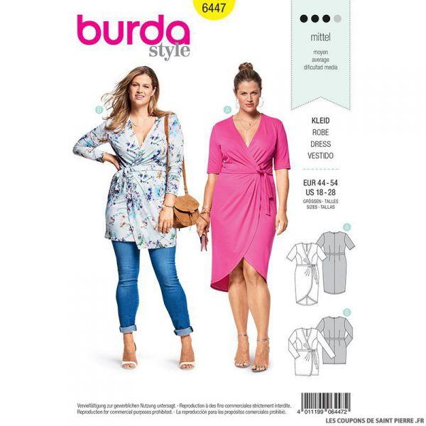 Patron Burda n°6447: Robe portefeuille