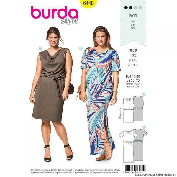 Patron Burda n°6448: Robe bénitier
