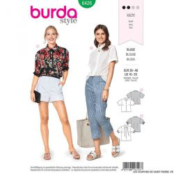 Patron Burda n°6426: blouse chemisier