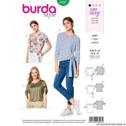Patron Burda n°6427: T-shirt noué