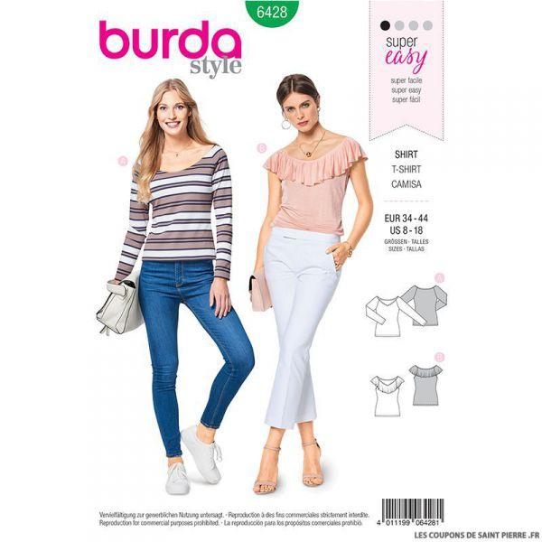Patron Burda n°6428: T-shirt danseuse