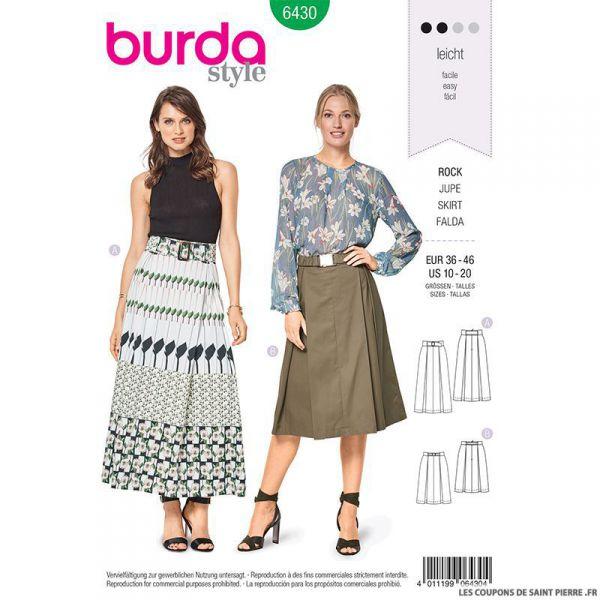 Patron Burda n°6430: Jupe plissée
