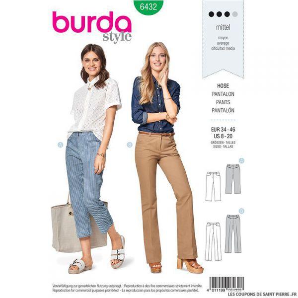 Patron Burda n°6432: Pantalon évasé