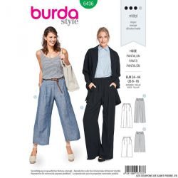 Patron Burda n°6436: Pantalon larges