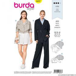 Patron Burda n°6437: Veste large