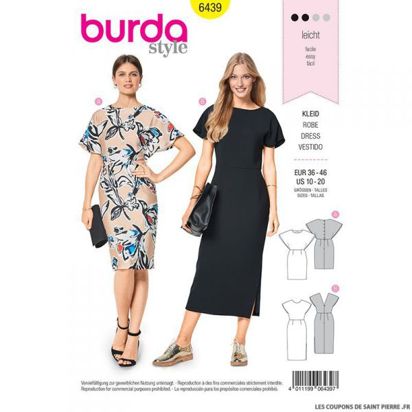 Patron Burda n°6439: Robe cape