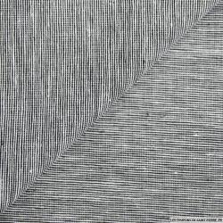 Coton lin fil à fil graphique noir