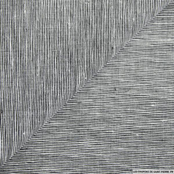 Coton lin fil à fil graphique marine