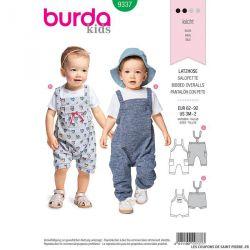 Patron Burda n°9337: Salopette enfant