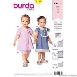 Patron Burda n°9339: Robe et culotte fille