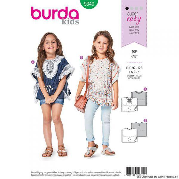 Patron Burda n°9340: Poncho enfant