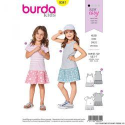 Patron Burda n°9341: Robe Tee-shirt enfant