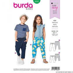 Patron Burda n°9342: Pantalon à coulisse enfant