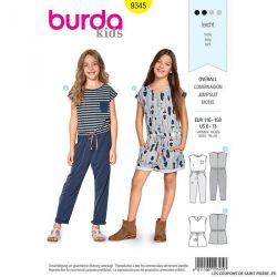 Patron Burda n°9345: Combinaison à poches enfant