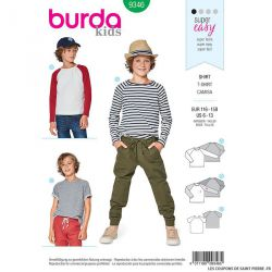 Patron Burda n°9346: Tee-shirt enfant simple