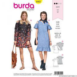Patron Burda n°6402 : Robe évasée