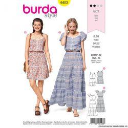 Patron Burda n°6403 : Robe boutonné