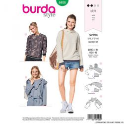 Patron Burda n°6406 : Sweat à capuche