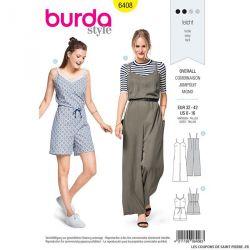 Patron Burda n°6408 : Combinaison à bretelles
