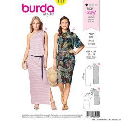 Patron Burda n°6412 : Robe épaule