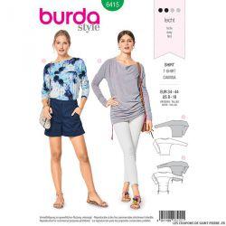 Patron Burda n°6415 : T-shirt chauve-souris