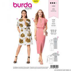 Patron Burda n°6420 : Robe à ceinture