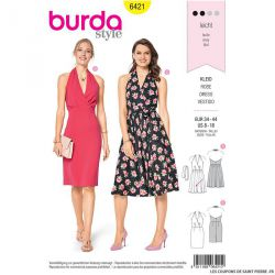 Patron Burda n°6421 : Robe Hollywood
