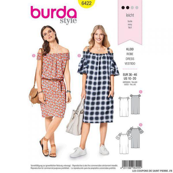 Patron Burda n°6422 : Robe Carmen