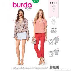 Patron Burda n°6425 : Blouse croisée