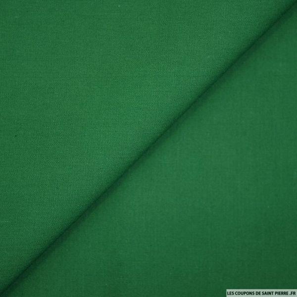 Coton uni vert gazon