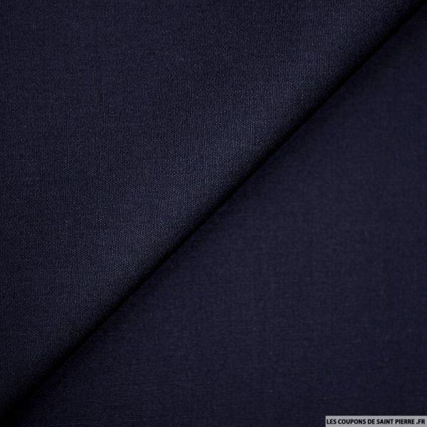Coton uni marine