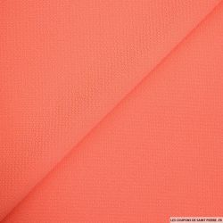 Crêpe polyester texturé saumon
