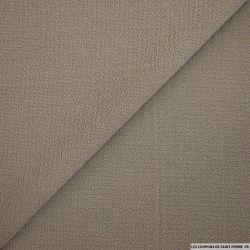 Crêpe polyester texturé galet