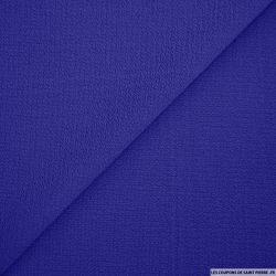 Crêpe polyester texturé bleu roy