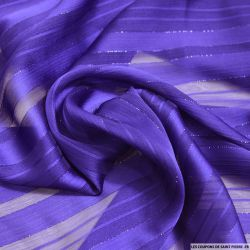 Tissu Dévorée rayé irisé violet