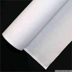 Toile Thermocollant Percale moyen blanc